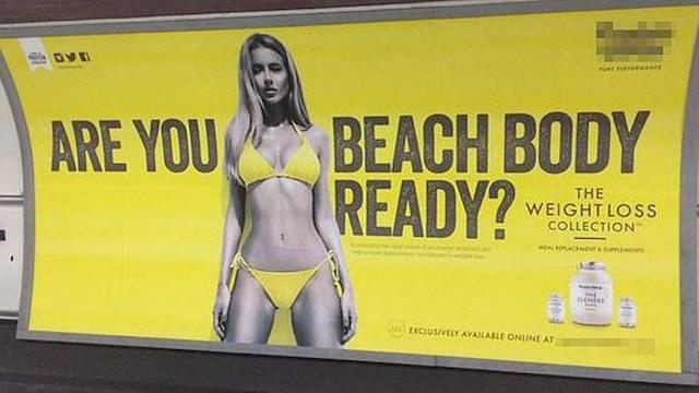 Renee Somerfield's Protein World Ad in the public place