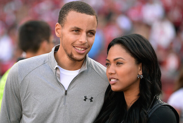 Stephen Curry with his wife Ayesha Alexander