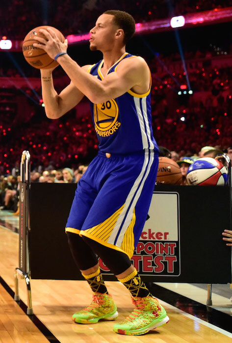 Stephen Curry during Three Point Contest
