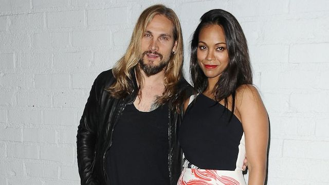 Zoe Saldana and her husband, Marco Perego