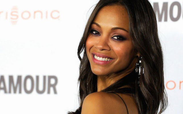 Zoe Saldana face closeup