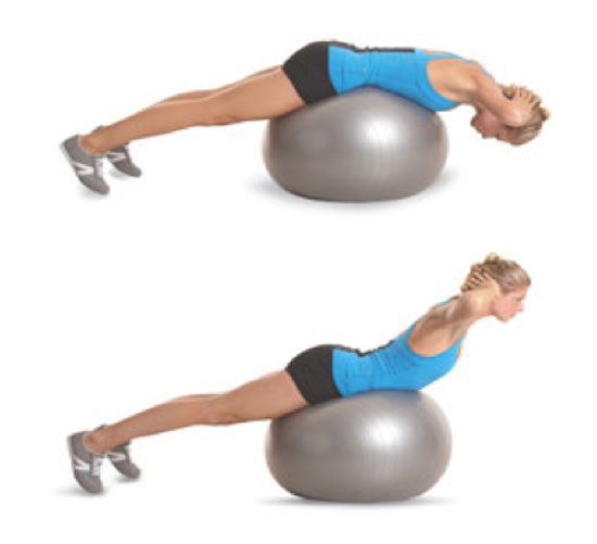 Back Extension with Swiss Ball