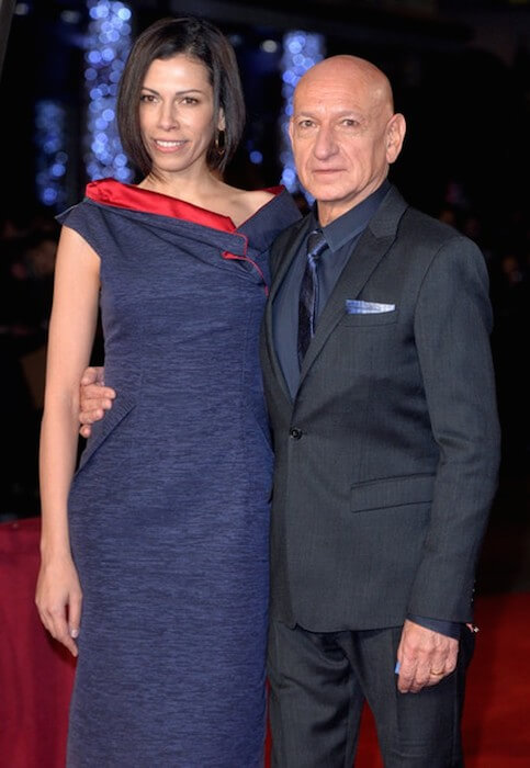 Ben Kingsley and his fourth wife Daniela Lavender at the World Premiere of 'Exodus Gods and Kings' at Odeon Leicester Square on December 3, 2014 in London, England