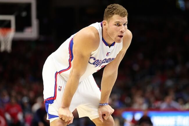 Blake Griffin during a game for Los Angeles Clippers