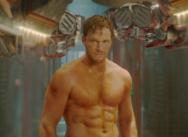 "Chris Pratt in a still from ""Guardians of the Galaxy"""