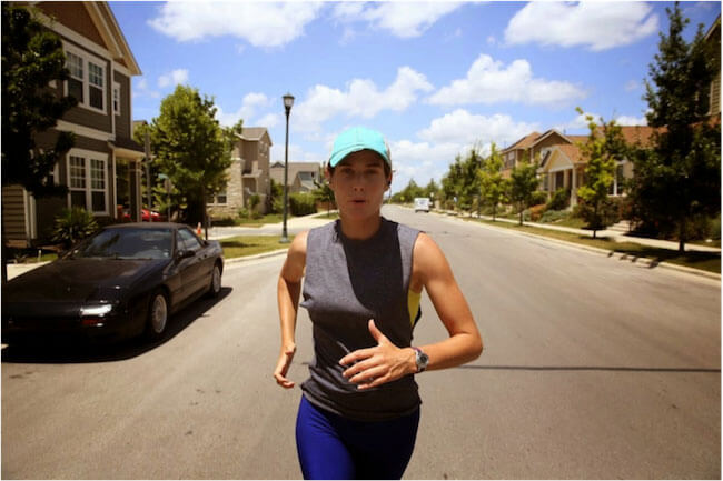 Cobie Smulders running