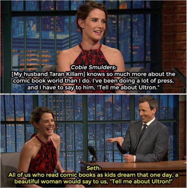 Cobie Smulders with Seth
