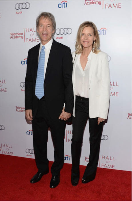 David E. Kelley and wife Michelle Pfeiffer attend The Television Academy's 23rd Hall Of Fame Induction Gala at Beverly Hills, California in March 2014
