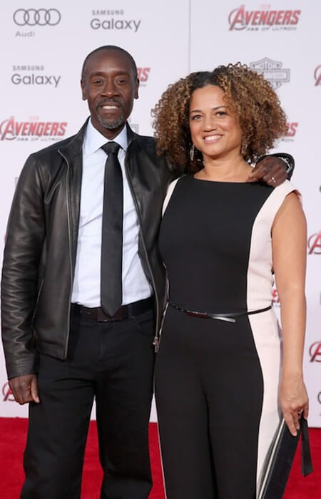 Don Cheadle and Bridgid Coulture at the premiere of 'Avengers: Age of Ultron' on April 13, 2015 in Hollywood, California.