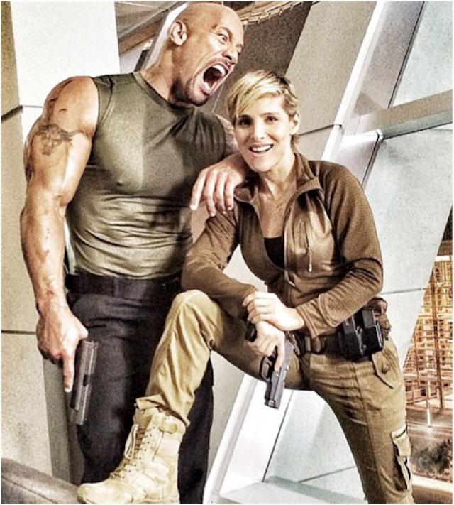 "Elsa Pataky and Dwayne Johnson ""The Rock"""