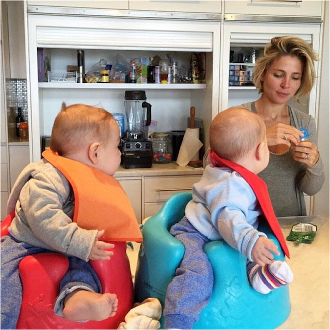 Elsa Pataky feeding her twin babies