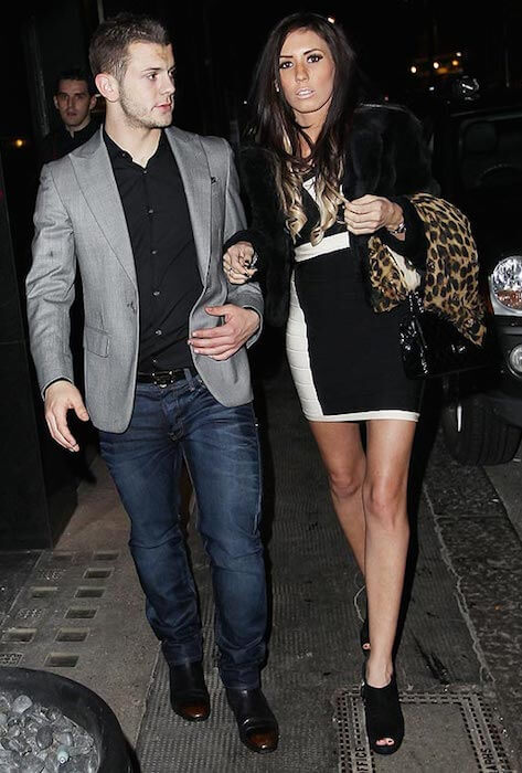 Jack Wilshere and Lauren Neal