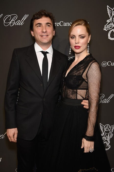 Jean David Blanc and actress Melissa George attend Angel Ball 2014 hosted by Gabrielle's Angel Foundation at Cipriani Wall Street on October 20, 2014 in New York City