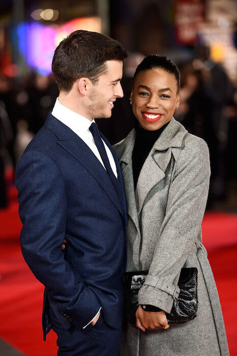 Jonathan Bailey and Pippa Bennett-Warner attend the UK Premiere of 'Testament of Youth' at Empire Leicester Square on January 5, 2015 in London, England