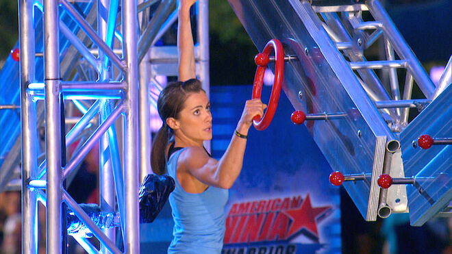 "Kacy Catanzaro while performing in ""American Ninja Warrior"""