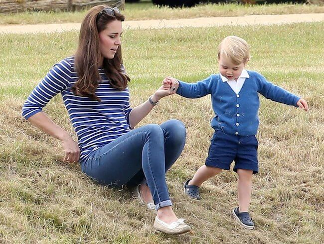 Kate Middleton and George at Gloucestershire Festival of Polo