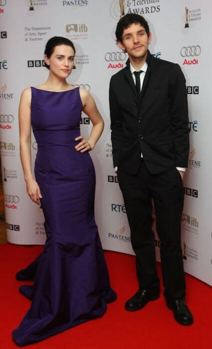 Katie McGrath with her boyfriend Colin Morgan at an Awards Ceremony in UK