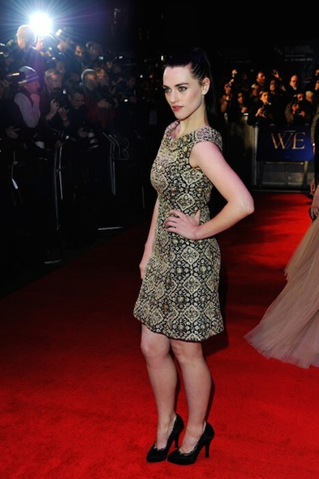"Katie McGrath arrives at the ""W.E."" premiere showcased at the 55th BFI London Film Festival at Empire Leicester Square on October 23, 2011 in London, England"