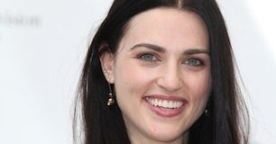 Katie McGrath smiles for the photocall for 'The Adventures of Merlin' at the 51st Monaco TV Festival 2011