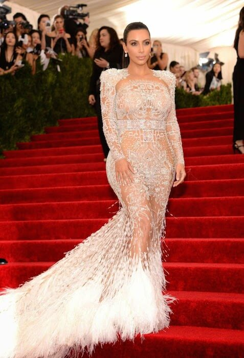 Kim Kardashian at Costume Institute Benefit Gala in New York City in May 2015