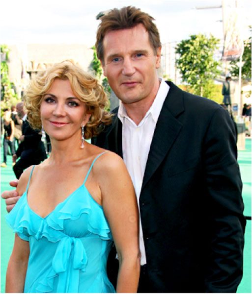Liam Neeson with beloved wife