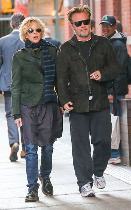 Meg Ryan walking with boyfriend John Mellencamp