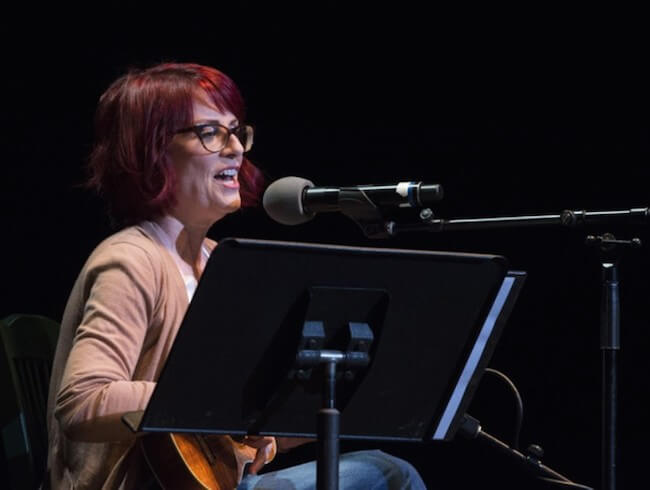 Megan Mullally performs at the 'Summer of 69: No Apostrophe Tour' at The Wiltern on May 21, 2015 in Los Angeles, California