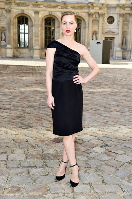 Melissa George attends the Christian Dior show on March 6, 2015. The show is a part of the Paris Fashion Week Women's Wear Fall / Winter 2015-16 in France.