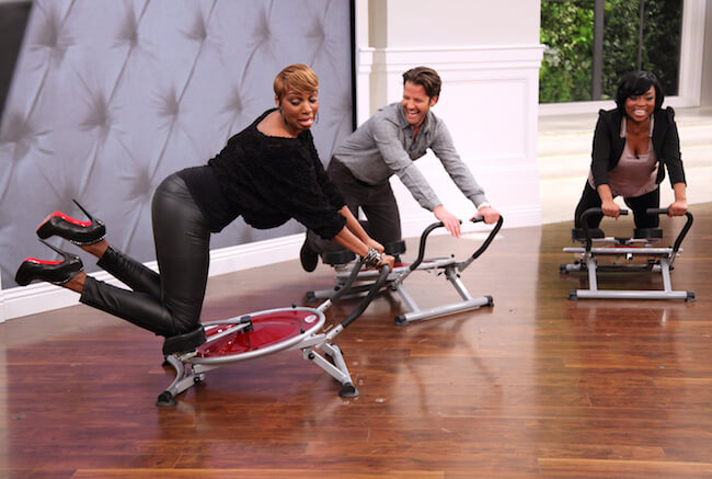 NeNe Leakes showing her workout move