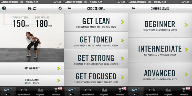 Nike Training Club fitness app
