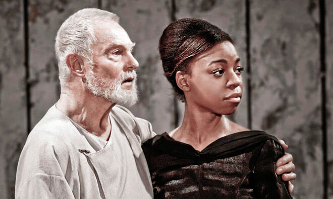 "Pippa Bennett-Warner in a still from play ""King Lear"""