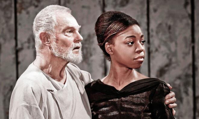 "Pippa Bennett-Warner in a still from play ""King Lear"""