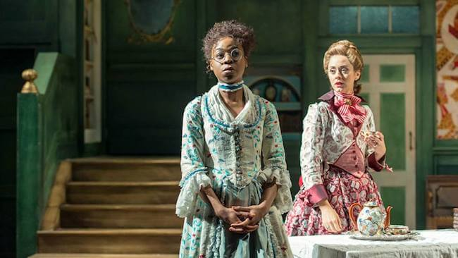 "Pippa Bennett-Warner in a still from ""The Beaux' Stratagem"""