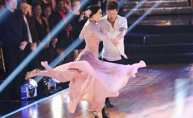 Rumer Willis performing during the finale of Dancing with the Stars