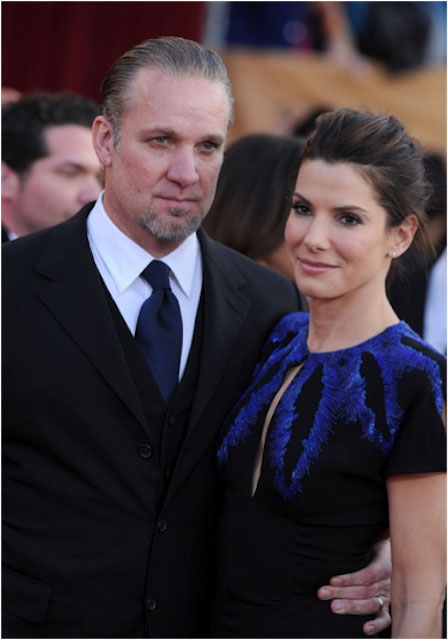 Sandra Bullock and her husband Jesse James