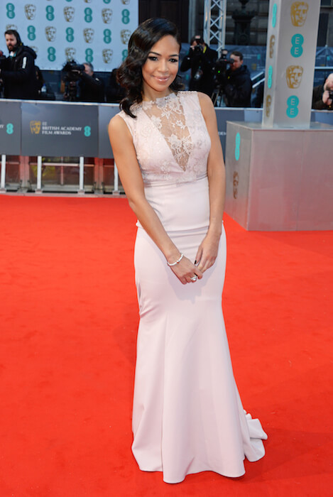 Sarah-Jane Crawford during BAFTAs 2015