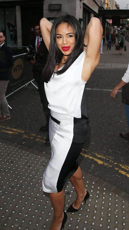 Sarah-Jane Crawford Wardrobe Malfunction at Celeb Bash