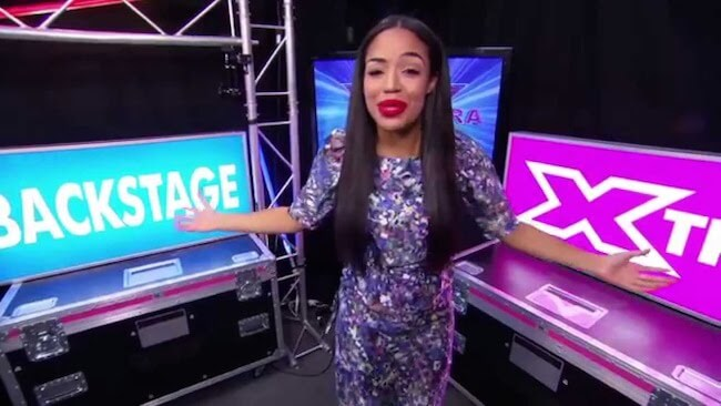 Sarah-Jane Crawford hosting Xtra Factor