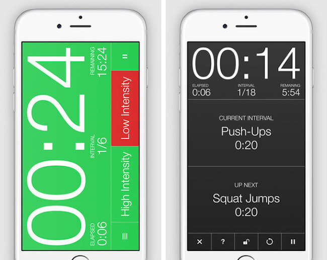 Seconds fitness app