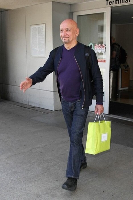 Sir Ben Kingsley at the Los Angeles International Airport on May 29, 2015