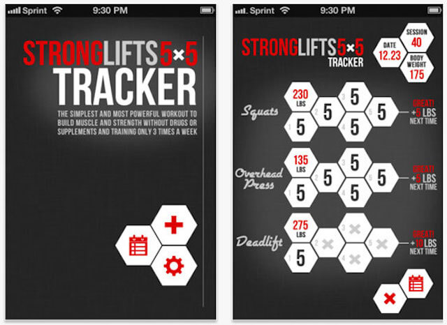 StrongLifts 5x5 fitness app