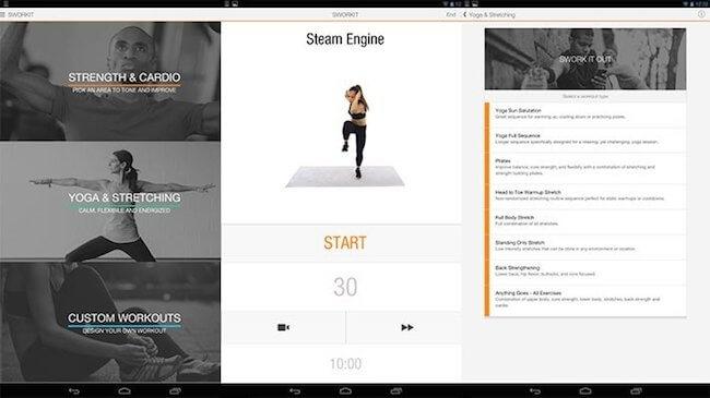 Sworkit Lite fitness app
