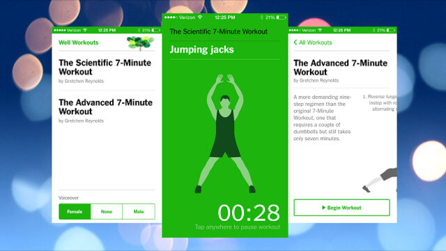 The New York Times 7-Minute Workout fitness app 1