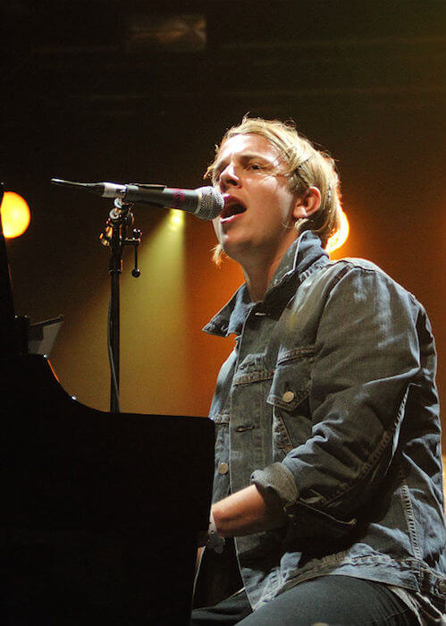 Tom Odell performing during the Splendour Festival 2014 at Wollaton Hall Park in Nottingham, UK