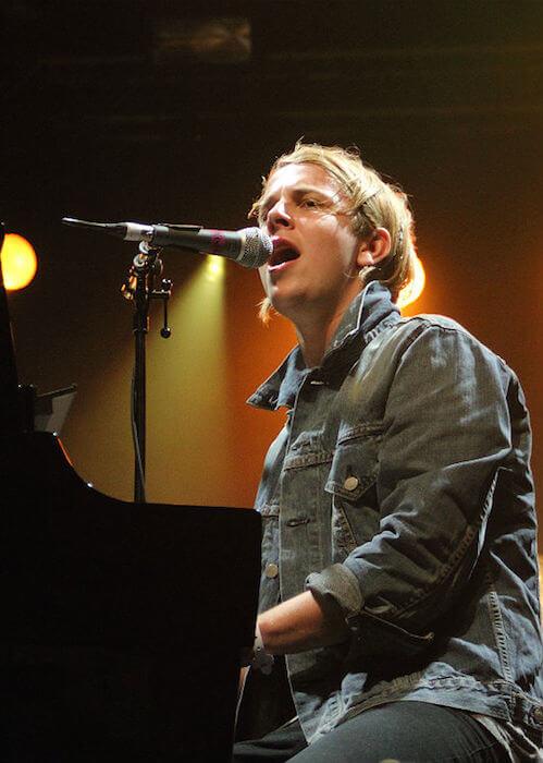 Tom Odell performing during the Splendour Festival 2014 at Wollaton Hall Park in Nottingham, UK