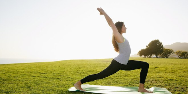 Yoga Practice Outdoors