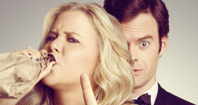 Amy Schumer in Trainwreck poster trailer