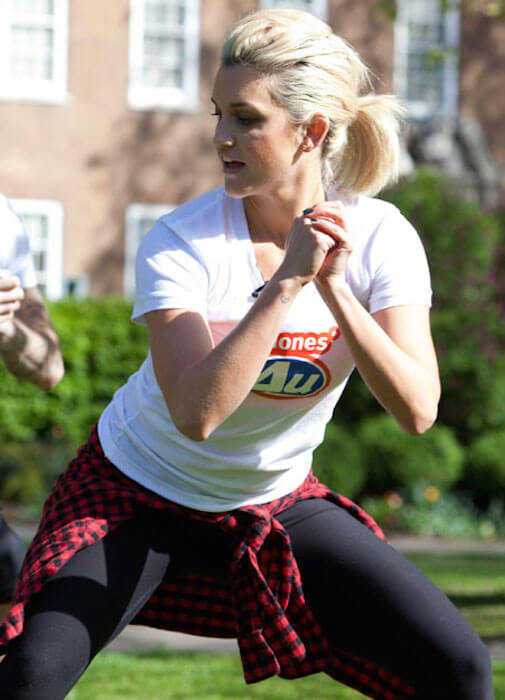 Ashley Roberts, former Pussycat Dolls members shows how to stay fit