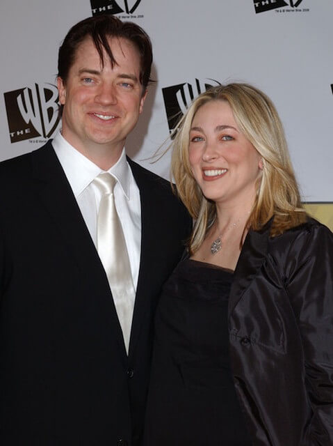 Brendan Fraser and his ex-wife Afton Smith arrive at the 11th Annual Critics' Choice Awards at Santa Monica Civic Auditorium in California on January 9, 2006