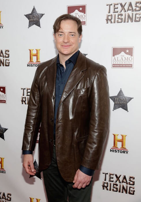 Brendan Fraser at the Texas Honors event at the Alamo on May 18, 2015 in San Antonio, Texas